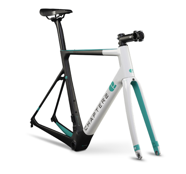 CHAPTER2 Tere White & Aqua Limited Edition Disc Frameset