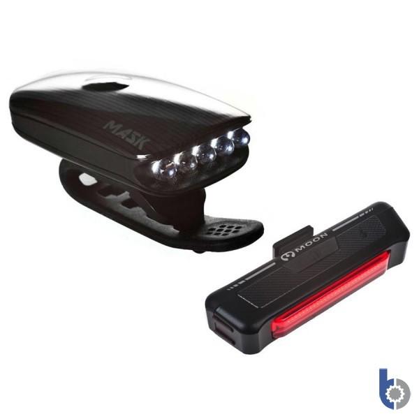 Moon Mask 70 & Comet 35 USB Rechargeable Light Set