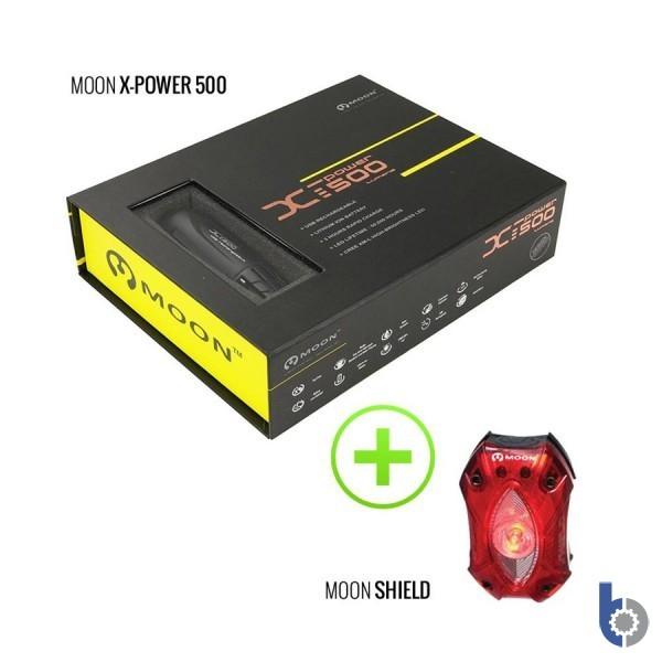 Moon X-Power 500 & Shield 60 USB Rechargeable Light Set