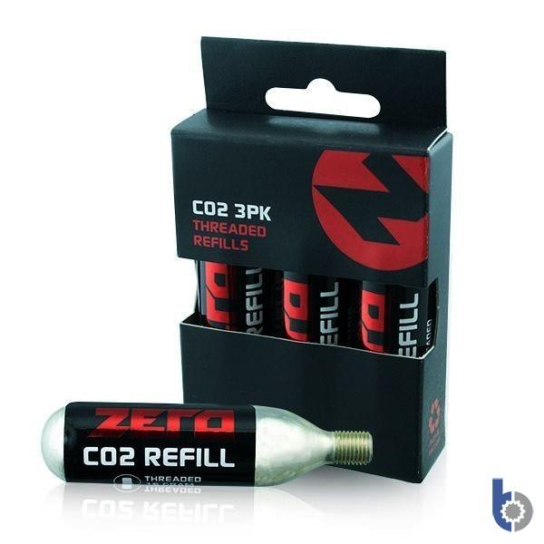 3x Zero CO2 Cartridges 16g Threaded Refills