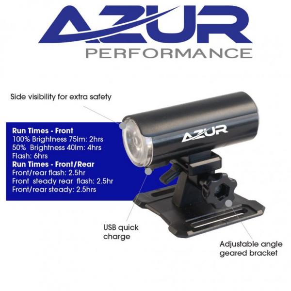 Azur Dual Helmet Light