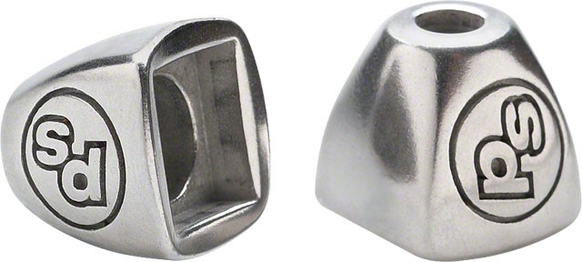 Problem Solvers Down Tube Shifter Boss Covers Silver