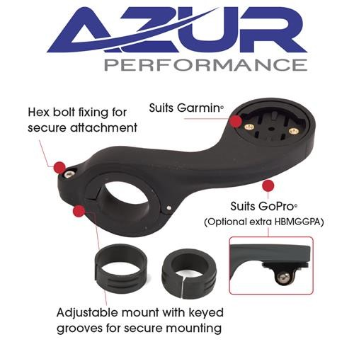 Azur Mount Out Front Garmin Black
