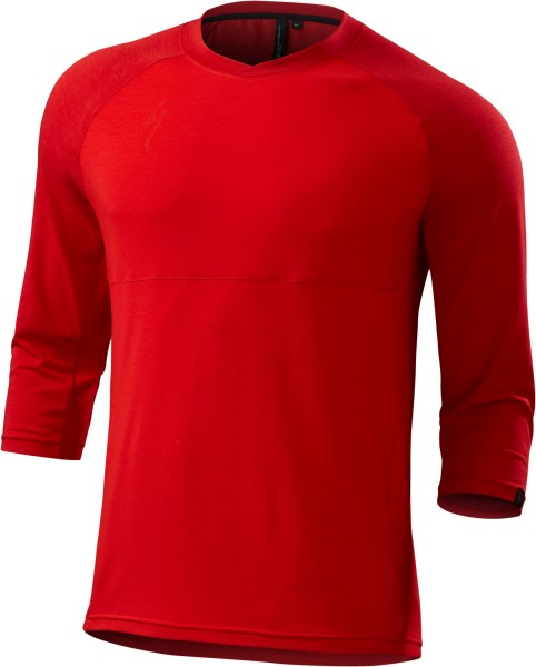 Specialized Jersey Enduro Drirelease Merino 3/4 Red Heather XL