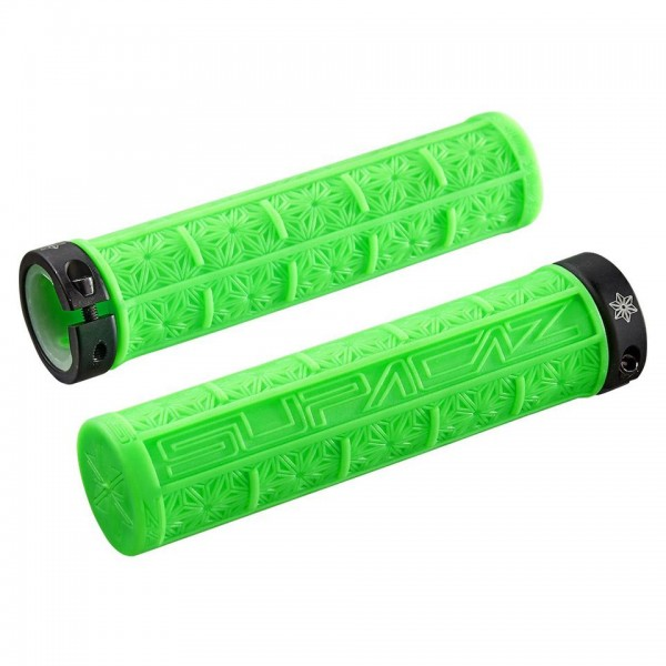 Supacaz Grips Grizips Neon Green Clear
