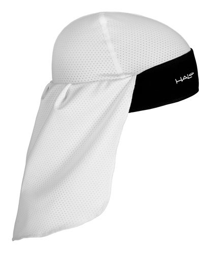 Halo Skull Cap and Tail White