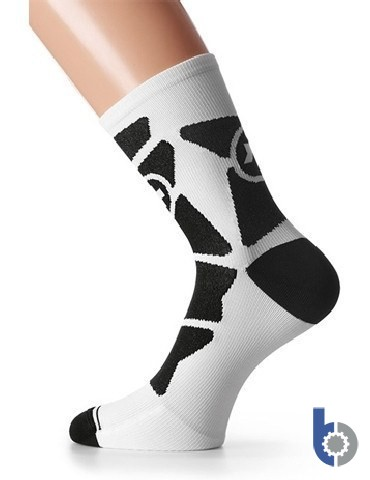 Assos quipeSock_G1 (white Panther) - Mid-height racing sock